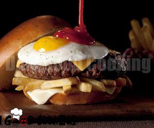 burger, cooking, and delicious image