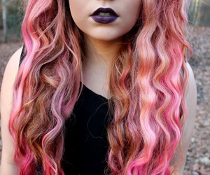 girl, pink, and dyed hair image