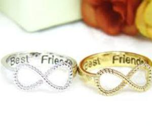 best friends, infinity, and rings image
