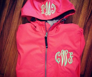 girly, monogram, and pink image
