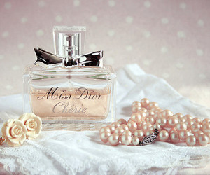 perfume, dior, and pearls image