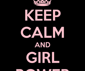 background, black, and girl power image