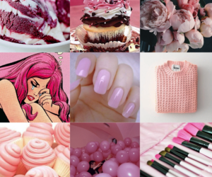 mine, pink, and unfinished image
