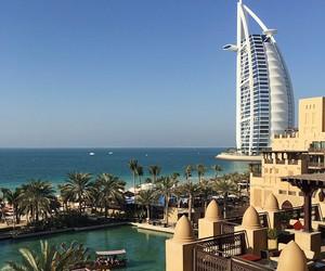 travel, beach, and Dubai image