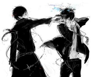 ao no exorcist, blue exorcist, and anime image
