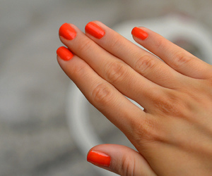 nails, orange, and pretty image