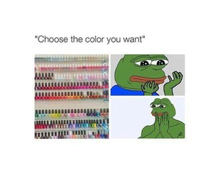 funny, nails, and frog image