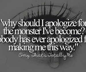 apologize and monster image