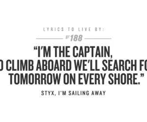captain, Lyrics, and quote image