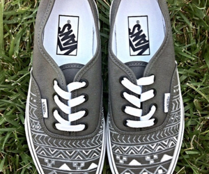 vans, grey, and white image