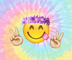 emoji, peace, and background image