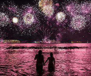 couple and fireworks image