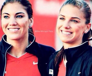 soccer, hope solo, and alex morgan image