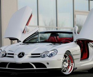 car, mercedes benz, and white image