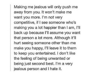 away, from, and jealousy image