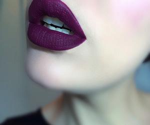 lips, purple, and lipstick image