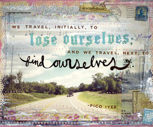 travel, quote, and lose image