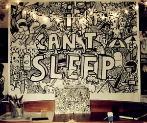 art, doodle, and sleep image