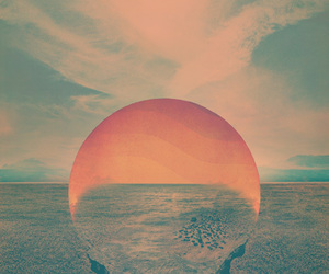 sun, sunset, and art image