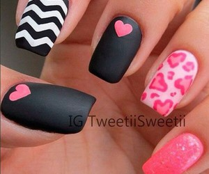 black, pink, and white image