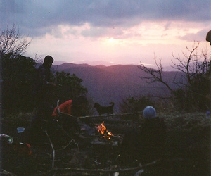 vintage, nature, and sunset image
