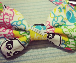 clip, lil panda, and hair bow image