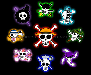 one piece, anime, and skull image
