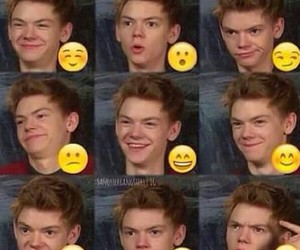 thomas sangster, funny, and newt image