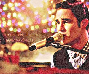 glee, darren criss, and teenage dream image