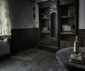 abandoned, bedroom, and books image