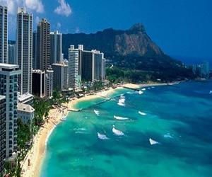 hawaii, ocean, and beach image
