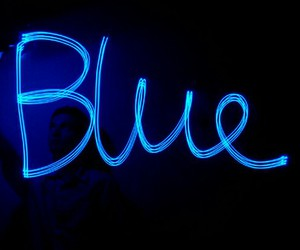 blue, lights, and cool image