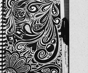 art, black white, and diy image