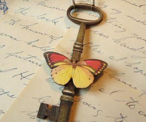 antique, butterfly, and Paper image