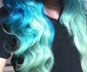 blue hair, hipster, and ombre image