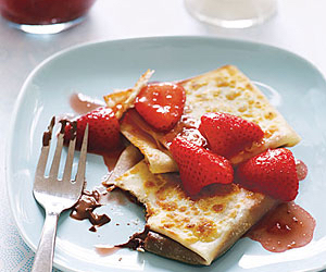 crepes, strawberry, and chocolate image