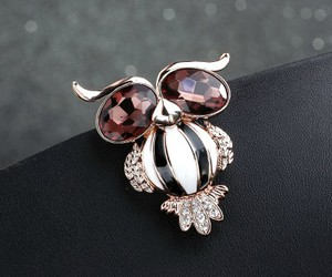 owl jewelry, owl brooch, and animal brooch image