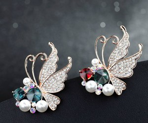 butterfly jewelry, butterfly brooch, and insect brooch image
