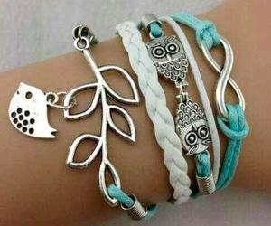 bracelet, owl, and bird image
