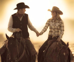 cowboy, Cowgirl, and love image
