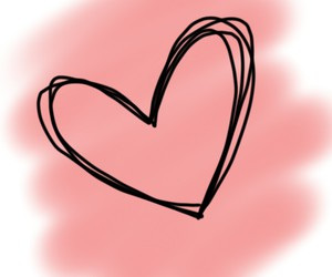 backround, heart, and pink image