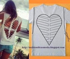 diy, girls, and t shirt image
