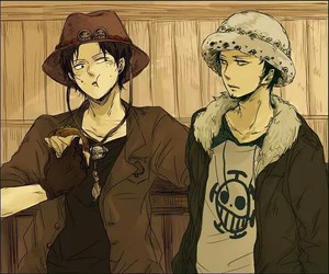 one piece, portgas d ace, and trafalgar law image