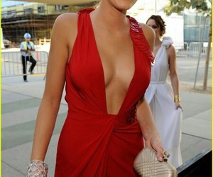 blake lively, gossip girl, and red dress image