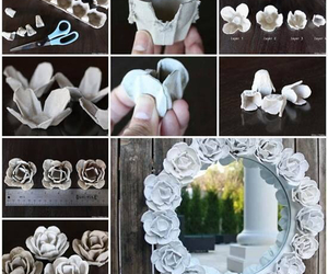 diy, flowers, and mirror image