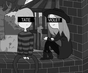 american horror story, violet, and tate image