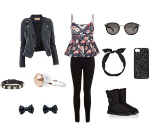 black, girly, and outfit image