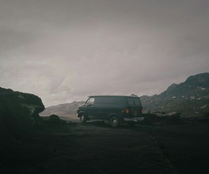 car, iceland, and scenery image