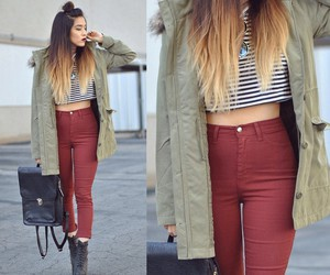 hair, shoe, and outfit image