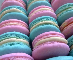 macaroons, pink, and blue image